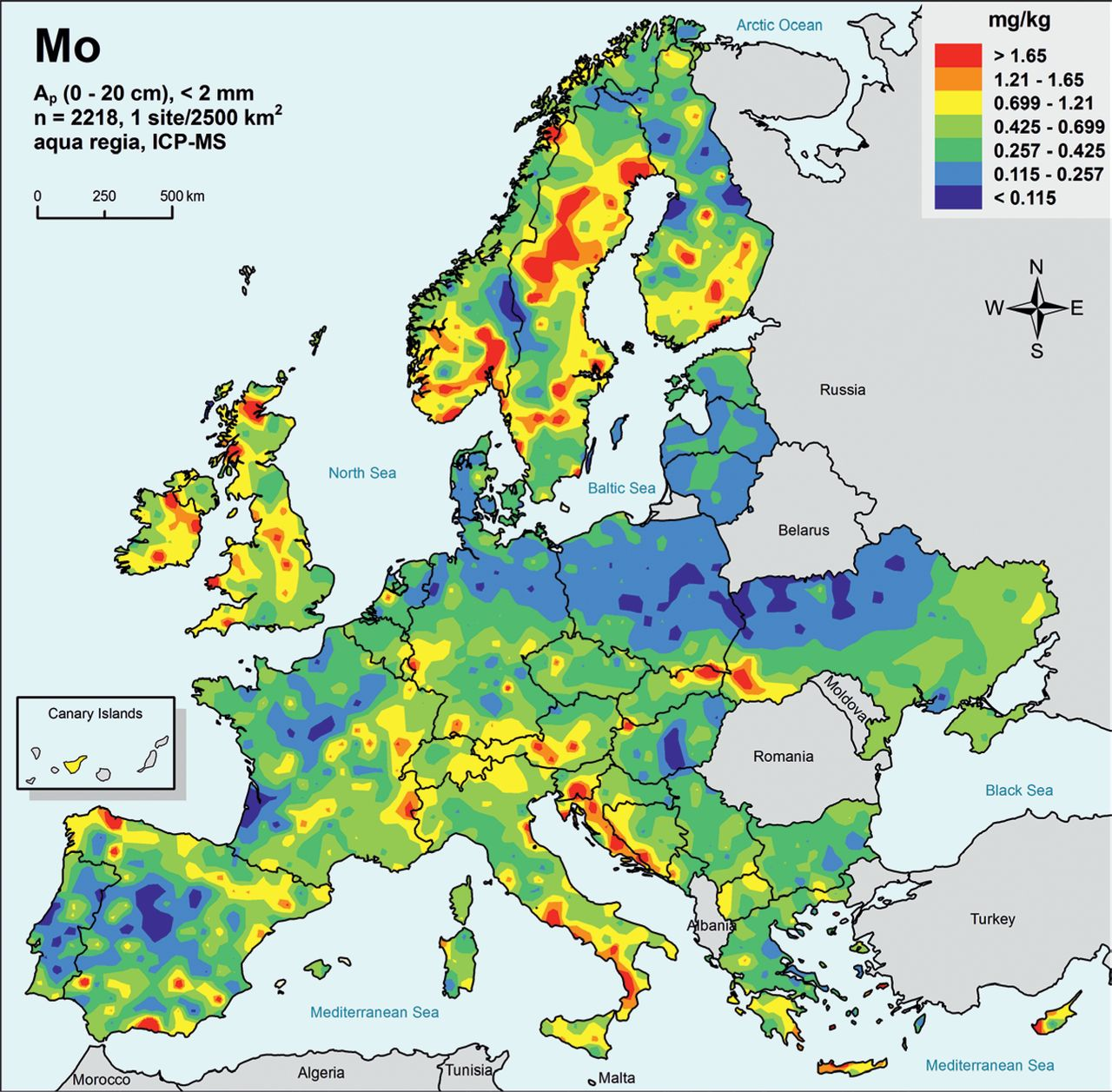 Low density geochemical mapping and mineral exploration ... on