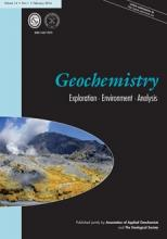 Geochemistry: Exploration, Environment, Analysis: 14 (1)